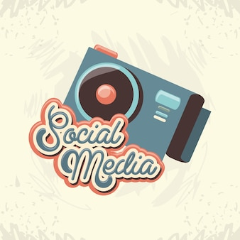 Marketing de mídia social com câmera