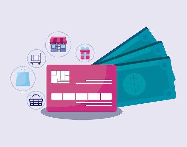 Marketing de mídia social com cartão de crédito