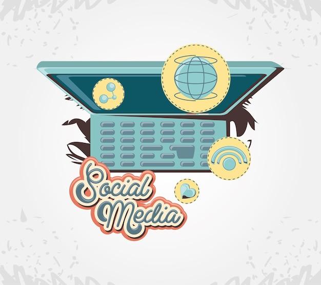 Marketing de mídia social com computador