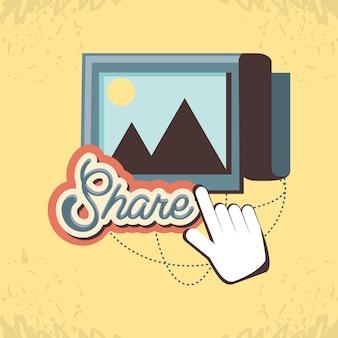 Marketing de mídia social com imagem