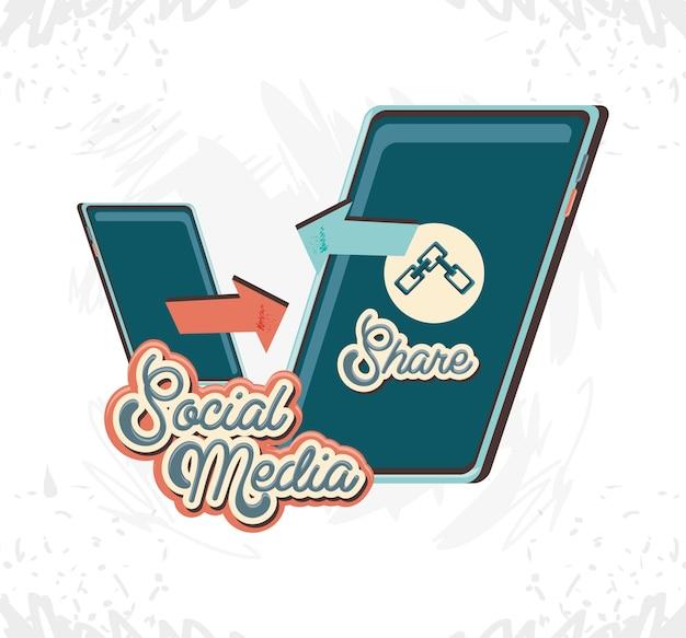 Marketing de mídia social com smartphone