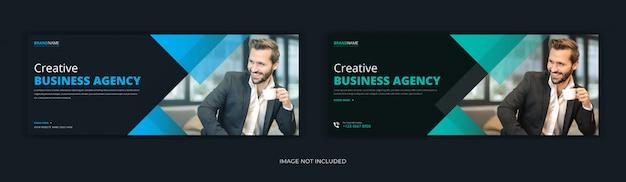 Marketing de negócios corporativos post de mídia social página de capa do facebook timeline web design de banner de anúncio