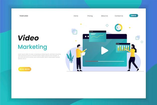 Marketing de vídeo e pouso publicitário