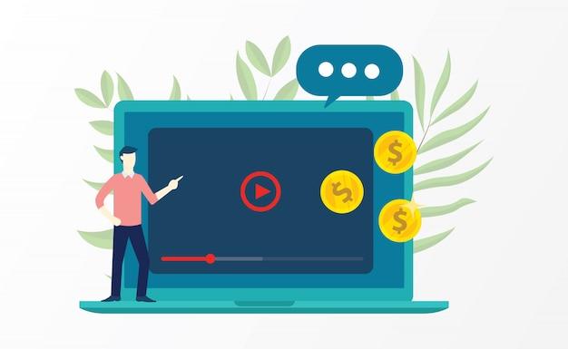 Marketing de vídeo w
