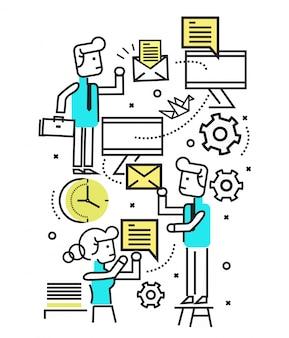 Marketing digital, campanha de e-mail, newsletter e sistema de assinatura