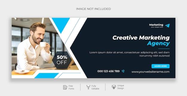 Marketing digital corporativo promoção de negócios e modelo de capa do facebook corporativo grátis
