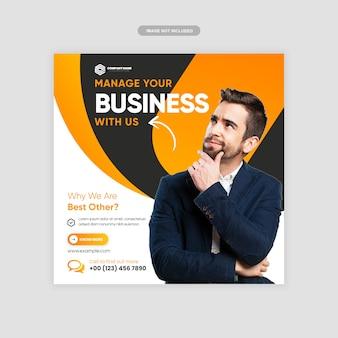 Marketing digital de negócios instagram post premium