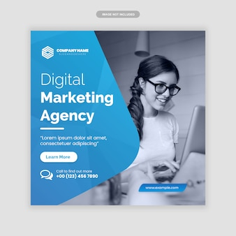 Marketing digital de negócios instagram post