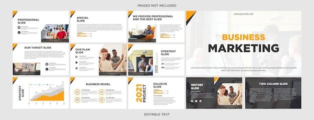Marketing digital design de apresentação multiuso