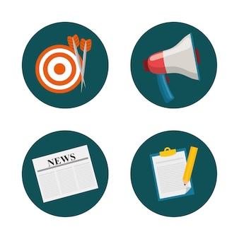 Marketing digital e design gráfico de publicidade
