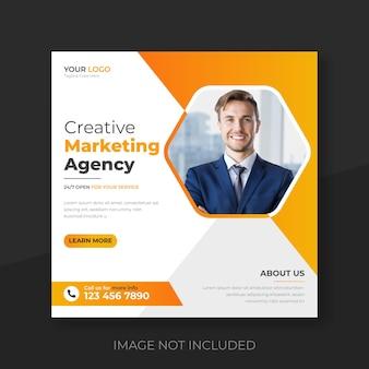 Marketing digital, mídia social corporativa e modelo de pós-design do instagram