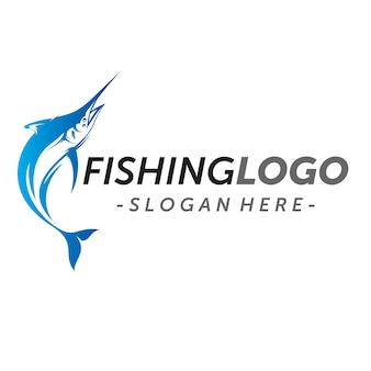 Marlin fish logo