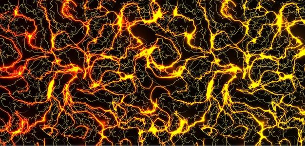 Mármore ouro textura premium ouro rachaduras sol superfície laranja relâmpago bg deslumbrante padrão sem emenda
