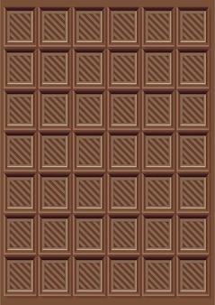Marrom delicioso padrão de barra de chocolate