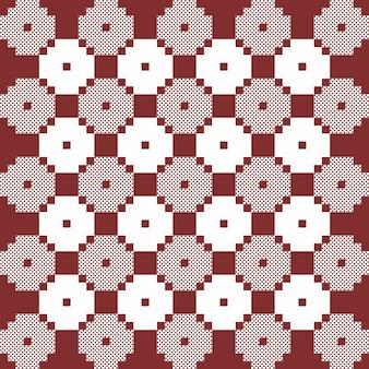 Marrom e branco monocromático vector quilt padrão. repita o design para impressões, têxteis, decoração, tecidos, roupas, embalagens