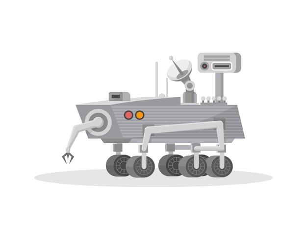 Mars rover com ícone de manipulador de mão