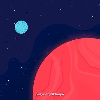 Marte e fundo da terra