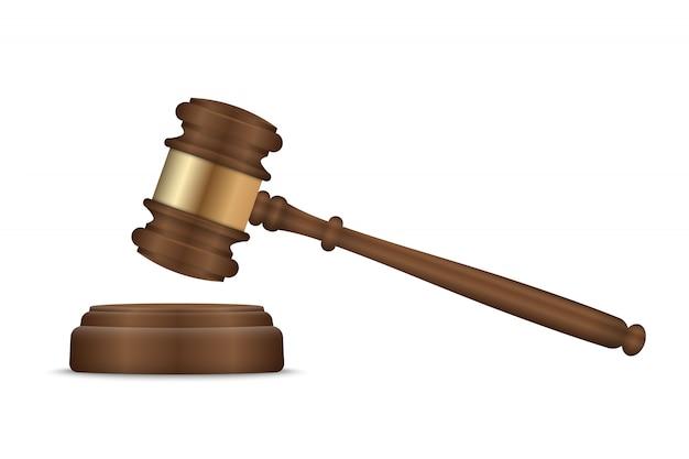 Martelo de juiz e tampo