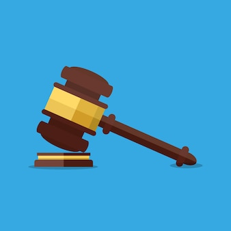 Martelo de madeira para juízes