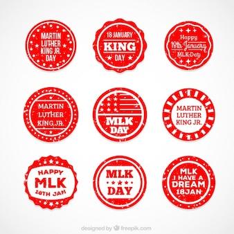 Martin luther king day arredondado emblemas