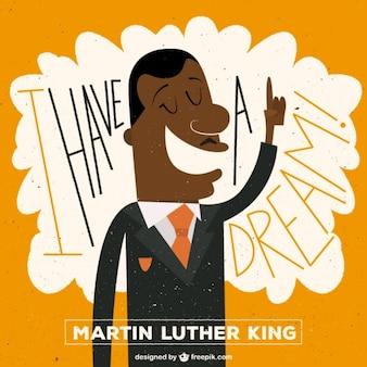 Martin luther king ilustração