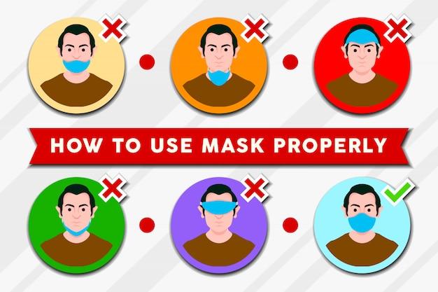 Máscara adequadamente