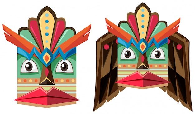 Máscara artesanal de madeira