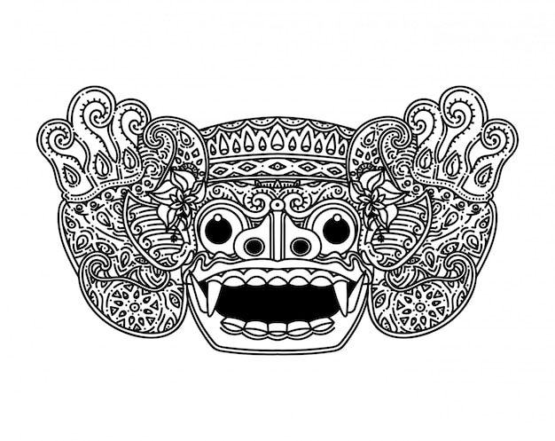 Máscara barong balinesa