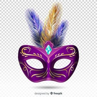 Máscara brasileira realista de carnaval