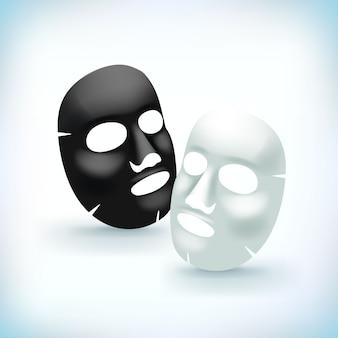 Máscara cosmética facial realista
