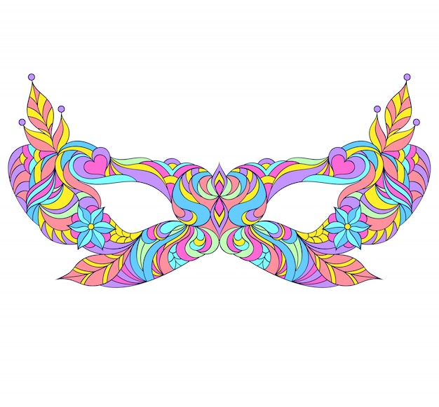 Máscara de baile de máscaras de carnaval.