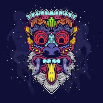 Máscara de cabeça de bali