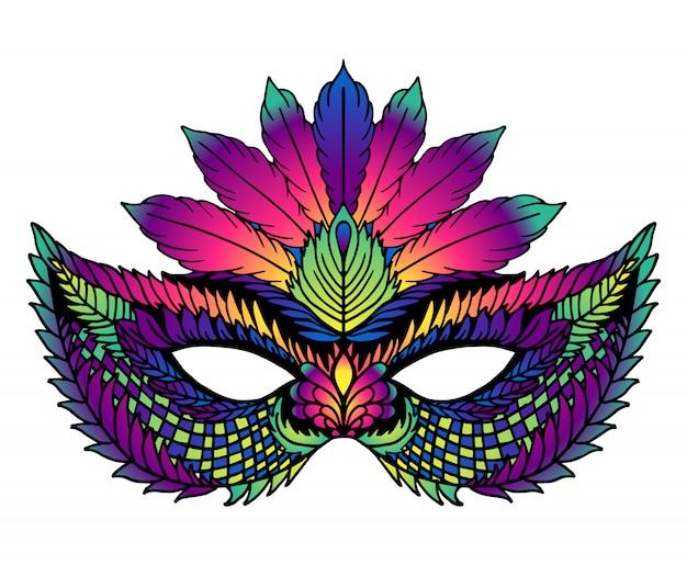 Máscara de carnaval brilhante. perfeito para celebrações do carnaval