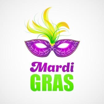 Máscara de carnaval mardi gras.