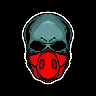 Máscara de caveira vermelha