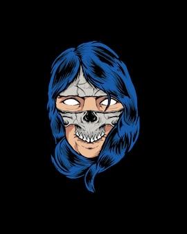 Máscara de crânio ou máscara de menina