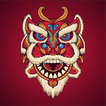 Máscara de dança de leão