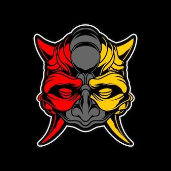 Máscara de demônio escuro