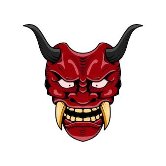 Máscara de diabo oni japonesa