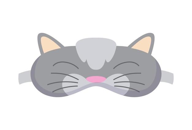 Máscara de dormir em forma de gato. acessório de proteção ocular e prevenção de sono saudável