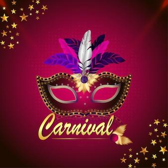 Máscara de festival de carnaval