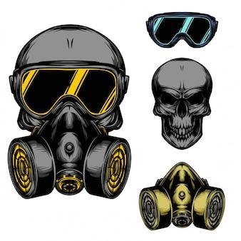 Máscara de gás de caveira