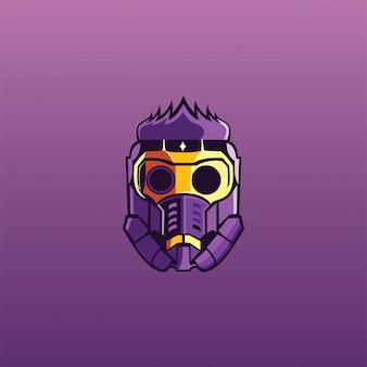 Máscara de gás esport logotipo gamer