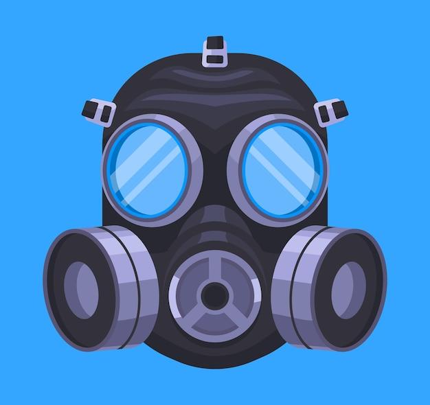 Máscara de gás respiratória ilustrada