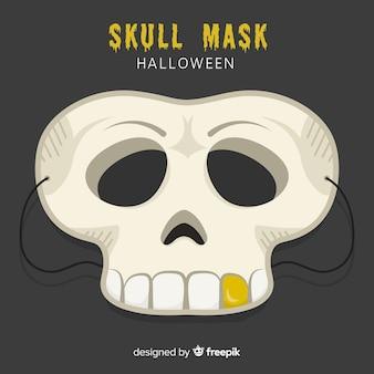 Máscara de halloween assustador com design plano