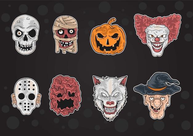 Máscara de halloween do garoto