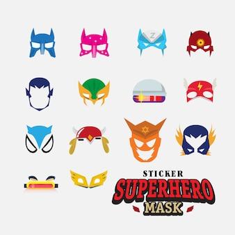 Máscara de herói. personagem de rosto.