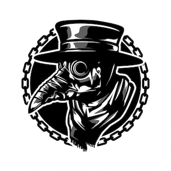 Máscara de médico de peste