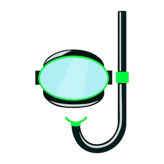 Máscara de mergulho para snorkeling imagem em estilo cartoon em um fundo branco.