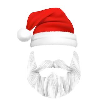 Máscara de natal do papai noel